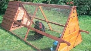 Portable A-frame chicken coop